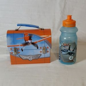 """Disney """"Dusty"""" Tin Container and Water Bottle"""